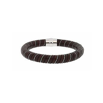 MANUEL ZED - Brown Leather Bracelet - L2186 0011