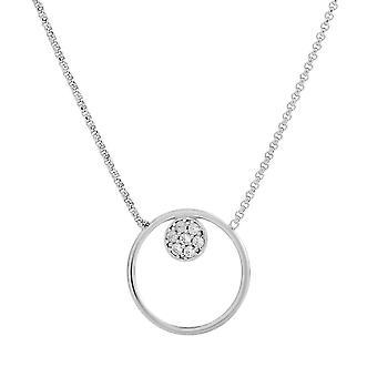 Orphelia argent 925 Collier avec pendentif ZIrconium 40 + 40 cm
