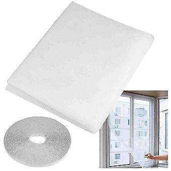 Insecte mouche guêpe Bug moustique fenêtre Mesh Net écran - chambre à coucher cuisine Bureau sain Safty outil accessoire - protecteur bébé enfant adulte 1.3mx1.5m blanc