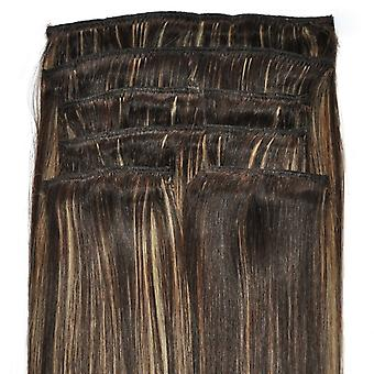 #4/18 Balayage Bronde - Clip-in Hair Extensions - Full Head - DELUXE
