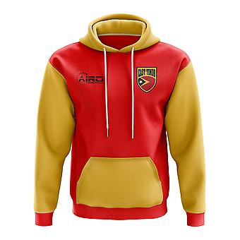 Oost-Timor Concept land voetbal Hoody (rood)