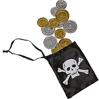 Pirate money bag children accessory Carnival pirate Corsair