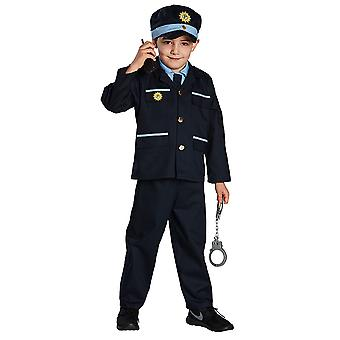 Blue COP police costume for children