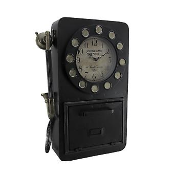 Time to Chat Antique Rotary Phone Wall Clock Key Cabinet