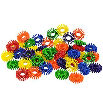 Bigjigs Toys Educational Large Gear Builders (144 Pieces) Construction