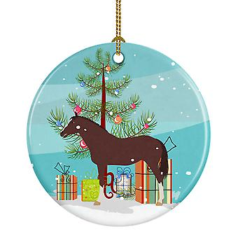 English Thoroughbred Horse Christmas Ceramic Ornament