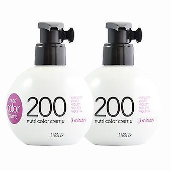 2er-Pack Revlon Nutri Color Creme 200 Burgund Violet 270ml
