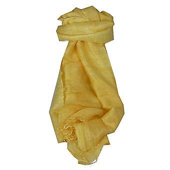 Чистый шелк-сырец длинный шарф Ханой ткать крем, пашмины & шелка
