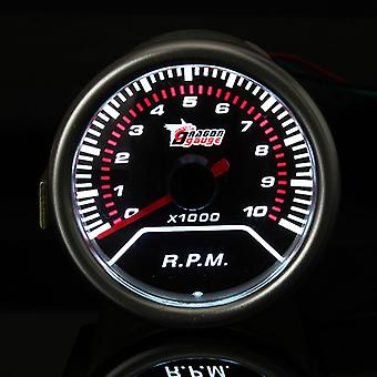 2 Inch Universal 52 MM red LED tachometer Auto Gauge Meter 0-10000 RPM