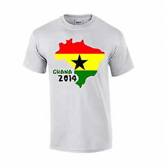 Ghana 2014 Country Flag-T-Shirt (grau)