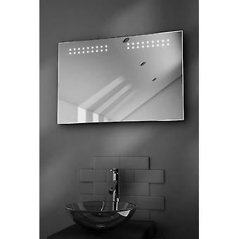Aqua Ultra-Slim LED Bathroom Mirror With Demister Pad & Sensor k14