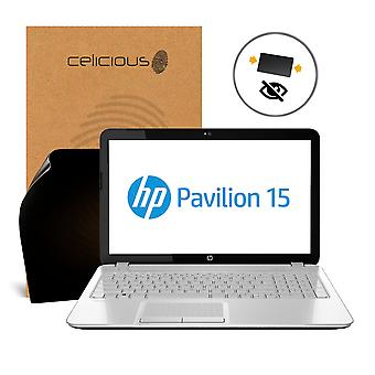 Celicious Privacy 2-Way Anti-Spy Filter Screen Protector Film Compatible with HP Pavilion 15 AU124NA