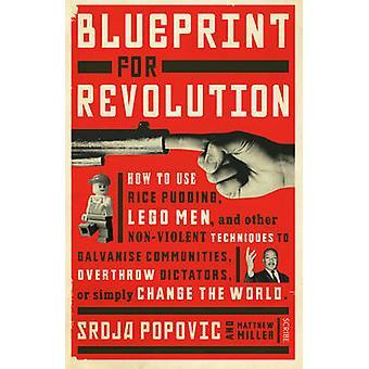 Blauwdruk voor revolutie - het gebruik van rijstpap - Lego mannen- en Ot