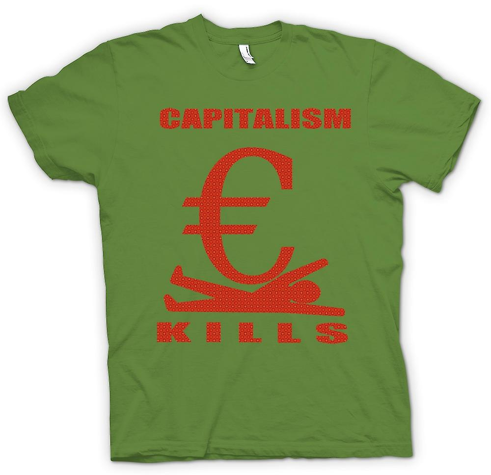 Mens T-shirt - Capitalism Kills - G20