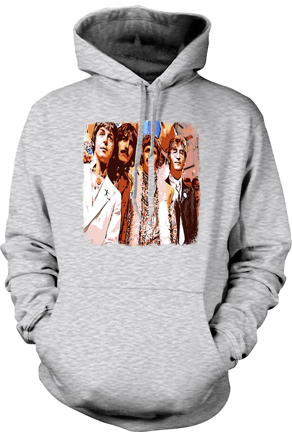 Mens Hoodie - The Beatles - Pop Art - 60s