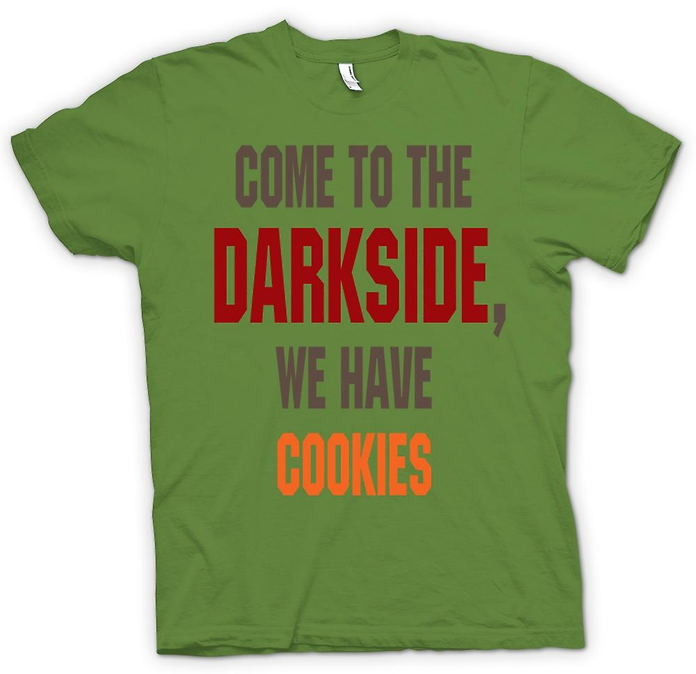 T-shirt des hommes - Come To The Darkside, nous avons cookies - Drôle