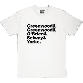 Radiohead Line-Up Men's T-Shirt