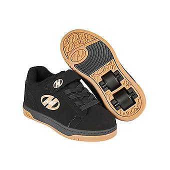 Heelys Black-Gum Dual Up X2 Kids Two Wheel Shoe