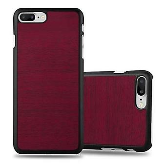 Cadorabo case para iPhone Apple 8 PLUS / 7 PLUS / 7S PLUS - capa de telefone caso difícil na ótica de madeira vintage - capa do para-choque volta caso capa