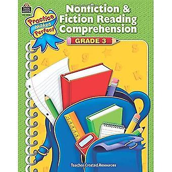 Nonfiction & Fiction Reading Comprehension, Grade 3 (Practice Makes Perfect
