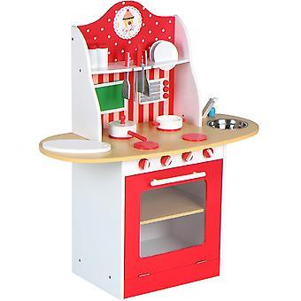 Cuisine dinette cuisinière en bois pour enfants jeux jouet moderne 0101012