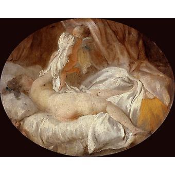 The Stolen Shift, Jean Honore Fragonard, 50x40cm