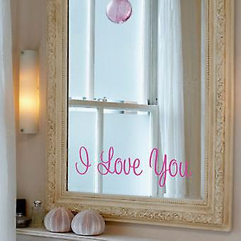 I Love You, small Wall Sticker
