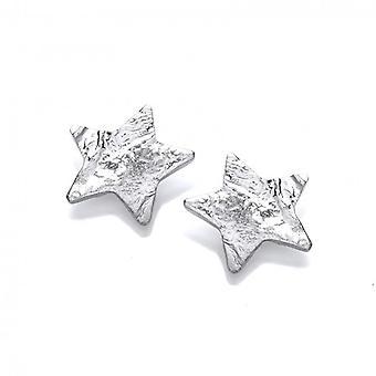 Cavendish francesa orgánica estrellas pendientes de plata