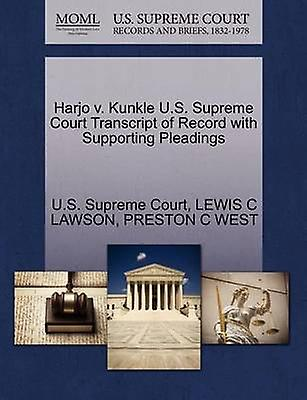 Harjo v. Kunkle U.S. Supreme Court Transcript of Record with Supporting Pleadings by U.S. Supreme Court