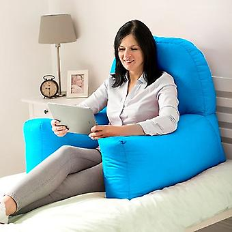 Turquiose Cotton Twill 'Chloe' Bean Bag Back Rest Reading Cushion