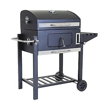 Charles Bentley American Portable Grill BBQ mit 6 Level Adjustable Heights in Holzkohle-60X 45cm Kochbereich