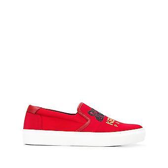 Kenzo Sneakers in cotone rosso con slip su