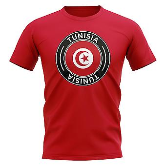 Tunisia Football Badge T-Shirt (Red)