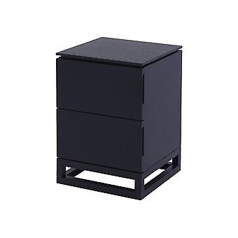 Gillmore Space Wenge Small Bedside Chest Of Drawers