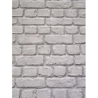 Dark Grey Brick Effet Fond d'écran Rasch 226720
