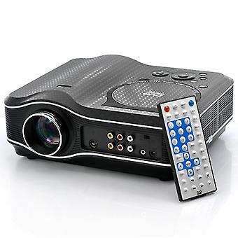 2100 Lumen DVD-Projektor mit DVD-Player-Videospiel-Projektor Beamer 400:1 Kontrast uk Stecker