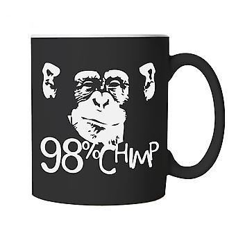 98% Chimp Funny Mug | Monkey Chimpanzee Ape Primate Cheeky Banana Tail | Humour Laughter Sarcasm Jokes Messing Comedy | Animal Joke Cup Gift