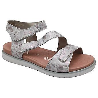Remonte Multi Strap Open Toe Adjustable Silver Sandals
