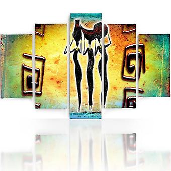 Five Part Picture On Canvas, Pentaptych, Type A, Three Graces