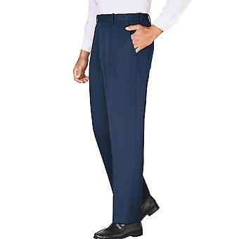 Mens Stretch Waist Durable Cavalry Twill Trouser Pants Office