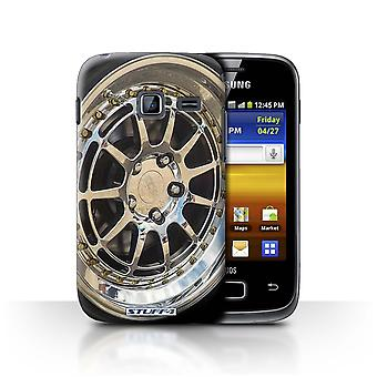 STUFF4 Case/Cover for Samsung Galaxy Y Duos/S6102/Chrome/Silver/Alloy Wheels