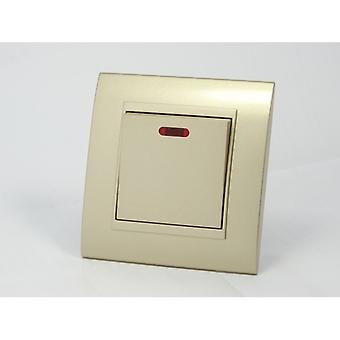 I LumoS AS Luxury Gold Plastic Arc Single Switched 45A Cooker Switch