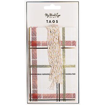 Holiday Tags 10/Pkg-Plaid HYP115