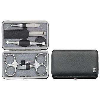 Zwilling Case With Mouthpiece, Alce Leather, Black, 5 Pieces