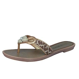 Grendha Exotic Thong Womens Flip Flops / Sandals - Beige