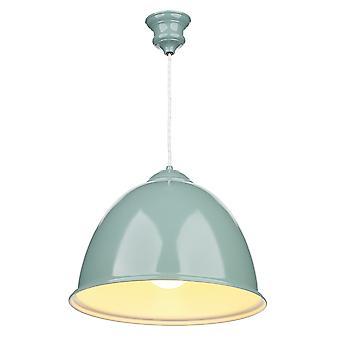 Euston enda ljus blå taklampa med vit blank insida