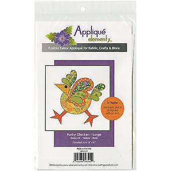 Urban Elementz Fusible Applique-Funky Chicken - Dotz #2 Large UEA1127D