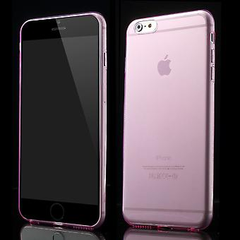 Ultra-thin 0.6 mm rubber hood TPU case for iPhone 6 Plus (Pink)