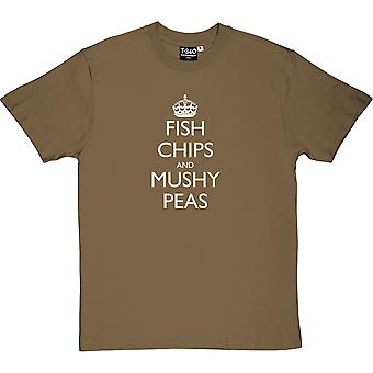 Fish, Chips and Mushy Peas Men's T-Shirt