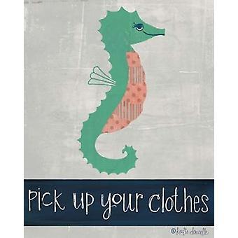 Recoger su ropa Poster Print por Katie Doucette